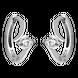 Bông tai Vàng trắng 10K đính đá ECZ Swarovski PNJ XM00W000100