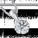 Mặt dây chuyền PNJ Vàng trắng 10K đính đá ECZ 61148.106