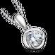 Mặt dây chuyền Vàng trắng 10K đính đá ECZ Swarovski PNJ XM00W000116