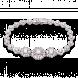Lắc tay cưới PNJ Giọt Sương Mai Vàng trắng 10K đính đá ECZ 85938.100
