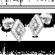 Bông tai PNJ Vàng trắng Ý 18K đính đá