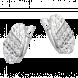 Bông Tai PNJ Vàng Trắng Ý 18K đính đá CZ