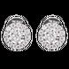 Bông tai Vàng trắng Ý 18K đính đá CZ PNJ XMXMW000454
