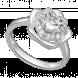 Nhẫn PNJ Galaxy Vàng trắng 10K đính đá ECZ 87588.100