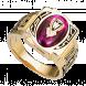 Nhẫn Nam PNJ Vàng 10K đính đá màu đỏ