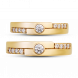 Nhẫn cưới Kim cương PNJ Chung Đôi Vàng 18K