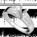 Vỏ nhẫn Kim Cương PNJ Vàng trắng 18K 49300.5A0