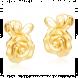 Bông tai cưới PNJ Tình Nồng Vàng 24K