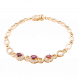 Lắc tay PNJ vàng 18K đính đá Ruby