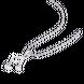Mặt dây chuyền Vàng trắng Ý 18K PNJ hình nốt nhạc 0000W000116
