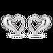 Bông tai bạc hình trái tim PNJSilver đính đá