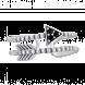 Nhẫn bạc PNJSilver Boho Dream đính đá màu đen
