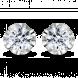 Bông tai PNJ Vàng trắng 10K đính đá ECZ 61147.106