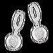 Bông tai Vàng trắng Ý 18K đính đá CZ PNJ XM00W000307