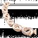 Lắc tay PNJ vàng 18K đính đá CZ