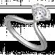 Nhẫn PNJ Galaxy Vàng trắng 10K đính đá ECZ