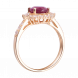Nhẫn PNJ vàng 18K đính đá Ruby