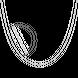 Dây chuyền bạc PNJSilver dây đan kiểu chữ cong 0000K000021