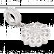 Hạt Charm DIY PNJSilver hình bông hoa