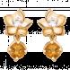Bông tai PNJ Sắc xuân vàng 18K đính đá Citrine