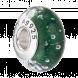 Hạt charm DIY PNJSilver hình dẹt tròn màu xanh lá