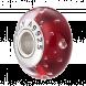 Hạt charm DIY PNJSilver hình dẹt tròn màu đỏ hoa văn