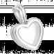 Hạt charm DIY PNJSilver hình tim trơn