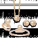 Bộ trang sức PNJ vàng 18K đính ngọc trai South Sea