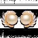 Bông tai PNJ vàng 18K đính ngọc trai South Sea