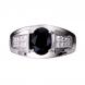 Nhẫn nam PNJ Vàng trắng 14K đính đá Sapphire 78825.600