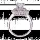 Nhẫn PNJ Vàng trắng 10K đính đá ECZ 80925.106