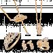 Bộ trang sức PNJ Phượng Hoàng Vàng 10K đính đá ECZ