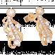 Bông tai PNJ Phượng Hoàng Vàng 10K đính đá ECZ