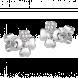 Bông tai Kim Cương PNJ First Diamond Vàng trắng 14K
