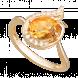Nhẫn PNJ Phượng Hoàng Vàng 18K đính đá Citrine