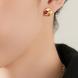 Bông tai PNJ Phượng Hoàng Vàng 18K đính đá Ruby
