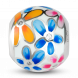 Hạt charm DIY PNJSilver hình bông hoa nhiều màu