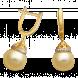 Bông tai PNJ Vàng 18K đính ngọc trai South Sea 91279.303