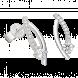 Bông tai PNJ Vàng trắng 10K đính đá ECZ 91042.100
