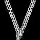 Dây cổ Vàng trắng 10K đính đá ECZ Swarovski PNJ XMXMW000072
