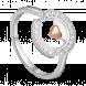 Nhẫn bạc PNJSilver Wanderlust hình trái tim đính đá 91433.100