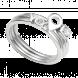 Nhẫn bạc PNJSilver Wanderlust chữ Yolo đính đá 92251.100