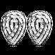 Bông tai PNJ vàng trắng Ý 18K hình giọt 77868.000