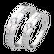 Nhẫn cưới Kim cương PNJ Chung Đôi Vàng trắng 14K
