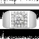 Nhẫn Nam PNJ Vàng trắng 10K đính đá ECZ