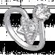 Nhẫn PNJ Galaxy Vàng trắng 10K đính đá ECZ 87615.100
