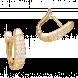 Bông Tai PNJ Vàng 18k đính đá CZ 57950.102