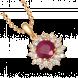 Mặt dây chuyền PNJ Vàng 14K đính đá Ruby 89917.600