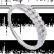 Nhẫn PNJ Vàng Trắng 10K đính đá ECZ Swarovski 44074.106