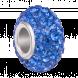 Hạt charm DIY PNJSilver hình dẹt tròn màu xanh